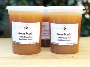 House-Made 100% Grass-Fed Beef Broth - The Organic Butcher of McLean