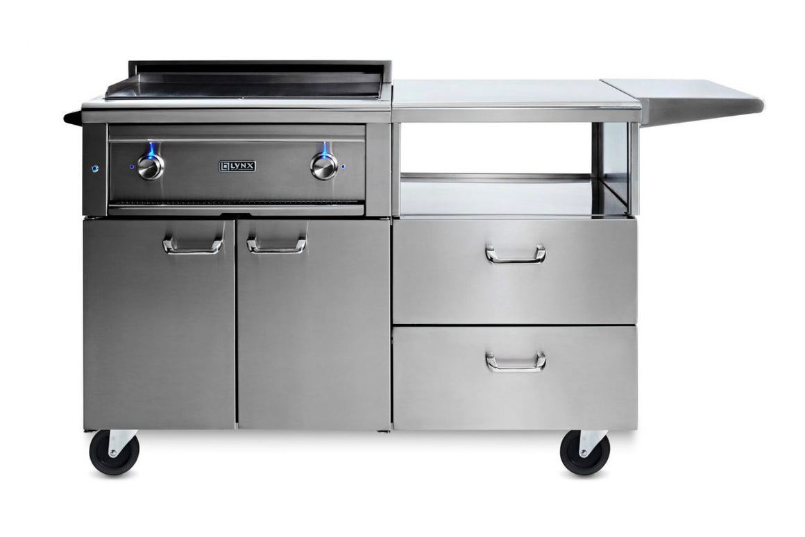 "30"" Asado Cooktop on Mobile Kitchen Cart - (L30AG-M) - The Organic Butcher of McLean"