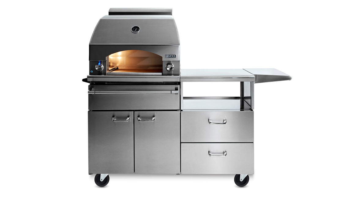 "30"" Napoli Outdoor Oven On Mobile Kitchen Cart - (LPZAF) - The Organic Butcher of McLean"