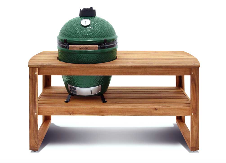 Large Big Green Egg + Hardwood Acacia Table Bundle - The Organic Butcher of McLean