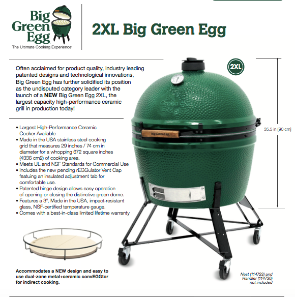 NEW! 2XL Big Green Egg Bundle - The Organic Butcher of McLean