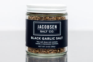 Jacobsen Black Garlic Salt - The Organic Butcher of McLean