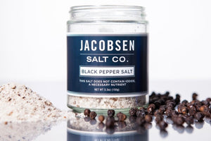 Jacobsen Black Pepper Infused Salt - The Organic Butcher of McLean