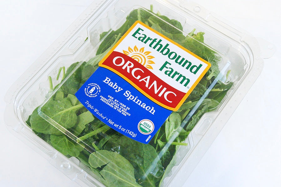 Organic Baby Spinach Clamshell - The Organic Butcher of McLean