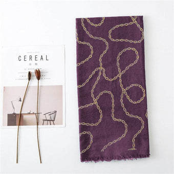 Lawn Gold Foil - Chains - Mulberry