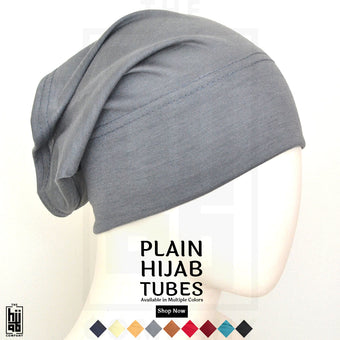 Plain Hijab Tubes - Set of 2
