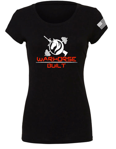 Warhorse Signature Women's Fitted Tee in Black