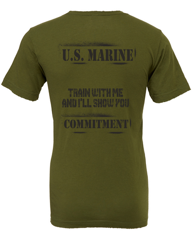 "USMC Tee ""COMMITMENT"" in PT Green"
