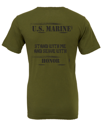 "PREORDER- USMC Tee ""HONOR"" in PT Green"