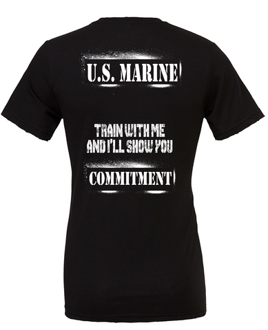 "PREORDER- USMC ""COMMITMENT"" Tee in Black"