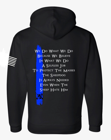 PREORDER: Blue Line LE Support Unisex Hoodie