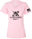 Warhorse Rose V-Neck in Pink