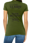 "PREORDER- USMC Women's Tee ""COURAGE"" in PT Green"