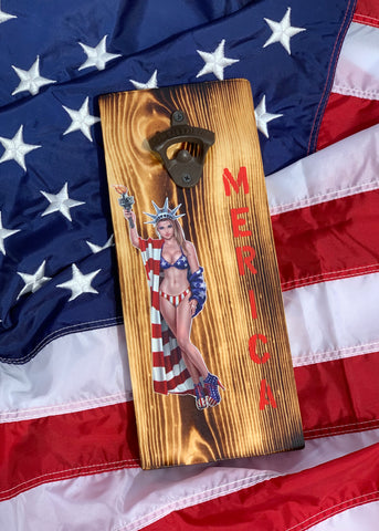 American Pin-Up Girl Bottle Opener