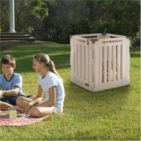 Convertible Indoor Outdoor 4 Panel Pet Playpen