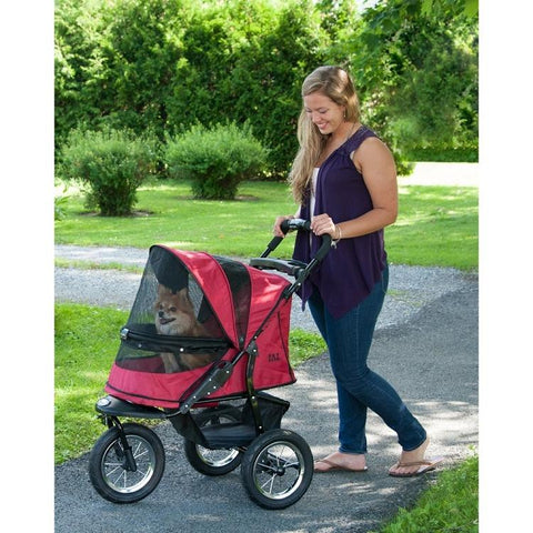 Jogger No-zip Pet Stroller - Rugged Red