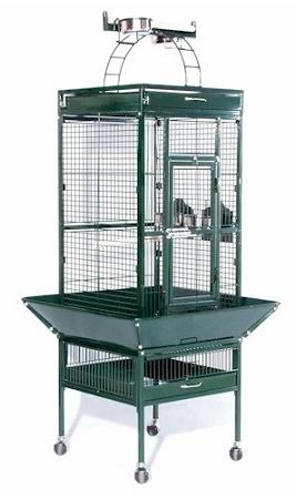 Small Wrought Iron Select Bird Cage - Sage Green