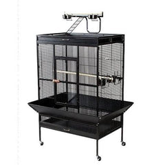 Select Wrought Iron Play Top Parrot Cage - Pewter