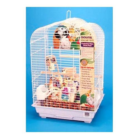 Cockatiel Scalloped Top Bird Cage Kit