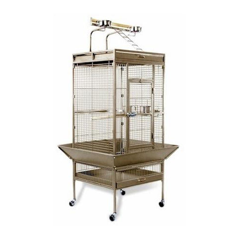 Medium Wrought Iron Select Bird Cage - Sage Green
