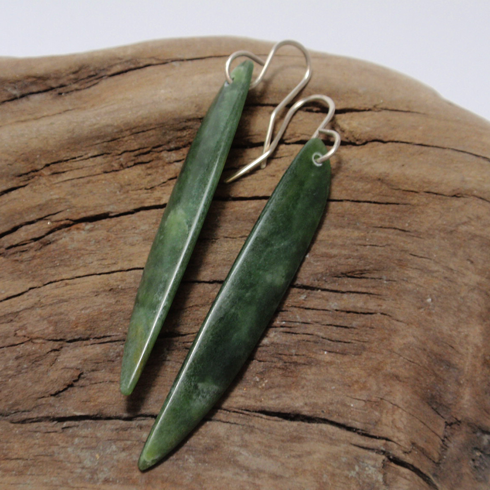 Pounamu drop earrings