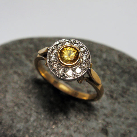 .18ct Yellow Sapphire and Diamond ring