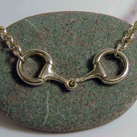 Silver Snaffle Pendant