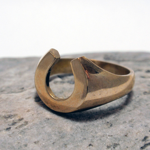 Gold Horseshoe Ring