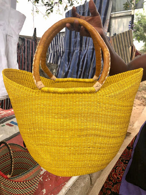 Open image in slideshow, Large Straw Hand Bag
