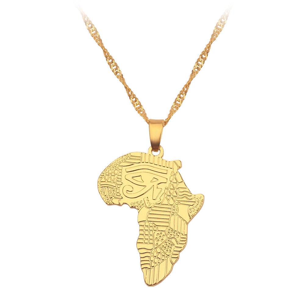 Africa Map Pendant Necklace The Eye