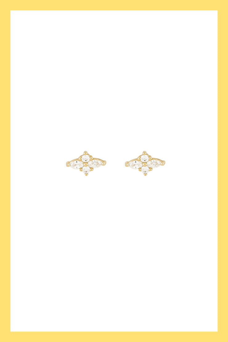 Calisson crystals earrings