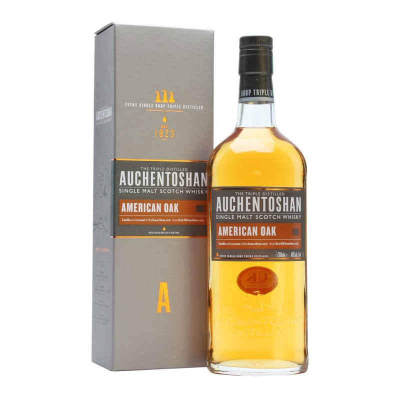 Auchentoshan Triple Distilled American Oak Malt Whisky 750ml