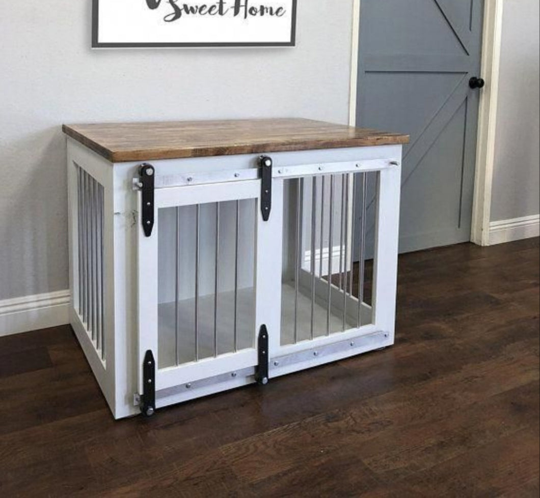 Small Dog Cage with Barn Door