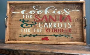 Cookies for Santa Wood Tray