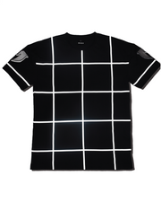 REFLECTIVE GRID TEE - BLACK