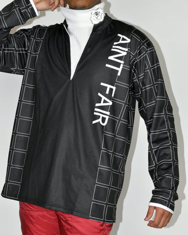 AINT FAIR ZIP NECK - BLACK