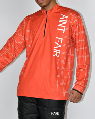 AINT FAIR ZIP NECK - DEEP ORANGE