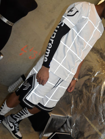 REFLECTIVE GRID SHORTS - BLACK
