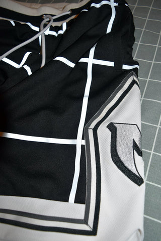 REFLECTIVE GRID SHORTS - WHITE