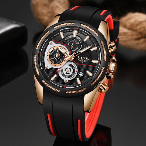 Silicone Strap Quartz Movement