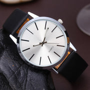 Simple Blank Face Quartz Wrist Watch