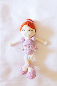 Dancing Ballerina Crocheted Toy - Pink