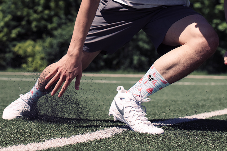 Sailboat Socks Performance Running on Field
