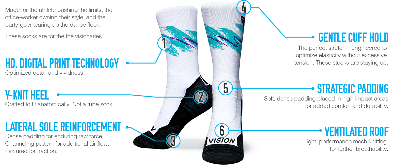 Performance compression sock technology