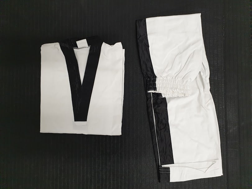*CLEARANCE* TKD approved plain white with black pipping - Hakutora