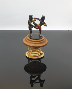 Muay Thai Fighters metal figurine miniature on spring base for car / gift - Hakutora