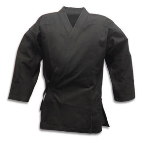 Black Karate Jacket. Lightweight. Perfect for training / spare. Various sizes - Hakutora