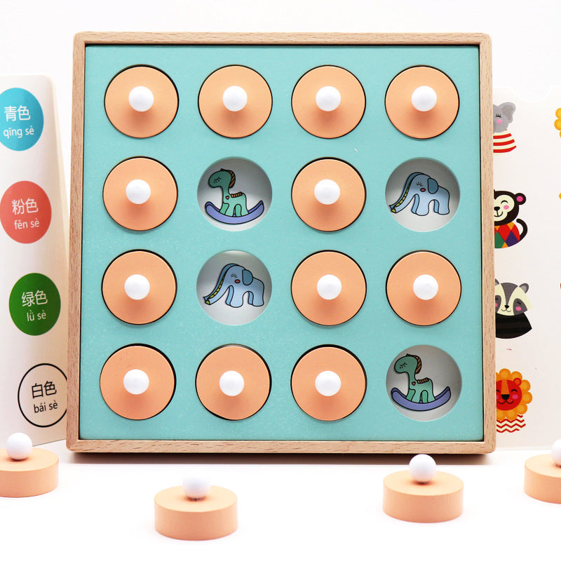 Toddler Montessori Memory Exercise Find The Pair Game Puzzles For Early Education Interactive Toy For Kids