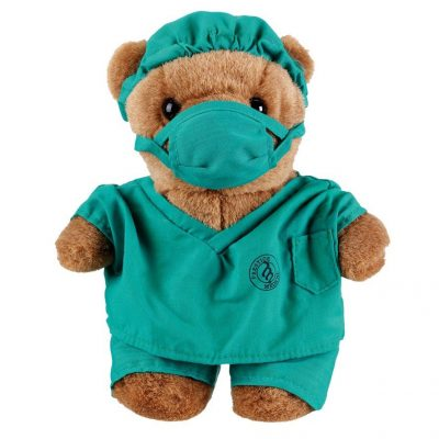 Teal Scrub Doctor Teddy Bear Gift