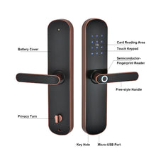 Load image into Gallery viewer, best electronic door lock with biometric fingerprint supported
